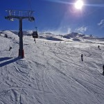 View over Ski fields at Cardrona taken from McDougall's lift