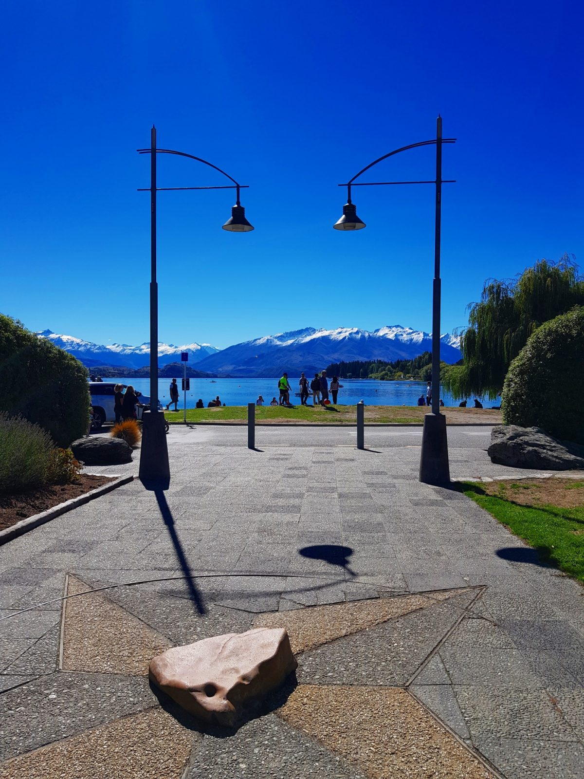 Wanaka town centre lakeside view